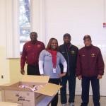 14 Thanksgiving baskets at Machen Elementary